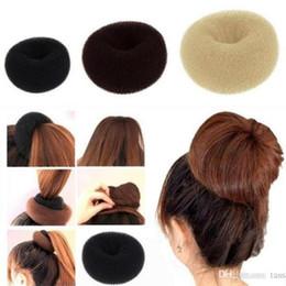 Wholesale Wholesale Hair Bun Extension - Womens Girls Hair Bun Donut Synthetic Scrunchie Hair Cover Bun Cage Bun Wrap Maker Hairpiece Clip in Hair Extension Brid 1200lot