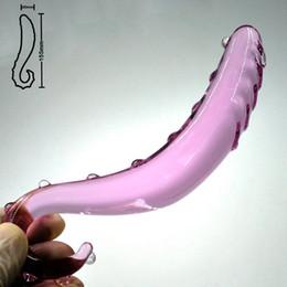 giocattolo artificiale del pene del sesso delle donne Sconti Cristallo artificiale falso pene vetro Pyrex anale dildo masturbazione butt plug prostata massaggiatore giocattoli del sesso per adulti gay donne uomini S1017