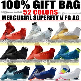 Wholesale Ivory Color Heels - Cheap 2018 New High Soccer Shoes High Ankle Mercurial CR7 Cristiano Ronaldo Football Boots Mercurial Superfly V FG AG Neymar Soccer Cleats