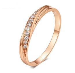 2019 anel de casal de ouro branco de 14k 6 Cores Áustria Cristal Anel De Prata de Moda Cor Prata Rosa Anel De Ouro Anéis De Diamante Anéis De Prata Amante Do Anel Anéis de Casamento MOQ 30 pcs