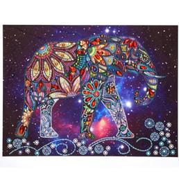 marcos digitales rosa Rebajas elefante diamante pintura kit taladro completo escenario arte de la pared gema pintada sobre lienzo rhinestone pegado pintado a mano ilustraciones de arte artesanal de regalo