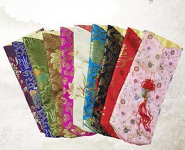 Wholesale silk chinese wine bottle bags - Chinese traditional size 30cm gift bag wine bottle packing bag silk bag mixed color mixed pattern