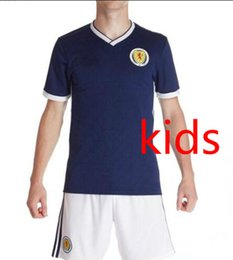 Wholesale Jersey Wholesale Thailand - DHL Free Delivery AAA Scotland KIDS Jersey 2018 World Cup T shirt Top Thailand Quality Scotland Home REPLICA JERSEY National kids Football