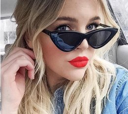 3c11d765722 Cute small frame sunglasses Cat eyes cool personality candy color Uv  protection sunglasses many colors