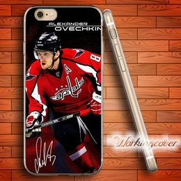Caso iphone hockey online-Custodia in silicone TPU trasparente per Huawei Ovechkin Fundas per iPhone X 8 6 6S 7 Plus 5S SE 5 5C 4S 4 Custodia per iPod Touch 6 5 Cover.