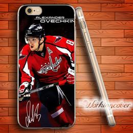 Caso do iphone do hóquei on-line-Fundas Alexander Ovechkin Hóquei Limpar TPU Silicone Case para iPhone 5 8 6 6 S 7 Mais 5S SE 5 5C 4S 4 Caso para o iPod Touch 6 5 Tampa.