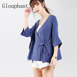 Wholesale Casual Belts For Shorts - Glouphant 2017 Autumn Cotton Batwing Sleeve Cardigan Women Short Lacing Cashmere Sweater Women Warm Women's Sweaters for Female