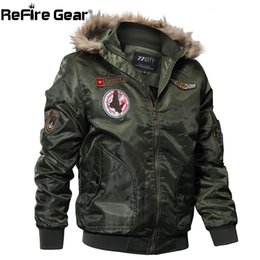 Lã do exército on-line-ReFire Engrenagem Inverno Militar Jaqueta Bomber Men Air Force Army Tactical Jacket Forro de Lã Quente Outerwear Parkas Casaco Com Capuz Piloto S1031