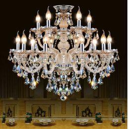 Pendente di lustro online-Lampadario di cristallo moderno Soggiorno lustri de cristal Decorazione Tiffany Pendenti e Lampadari Illuminazione domestica Lampada da interno