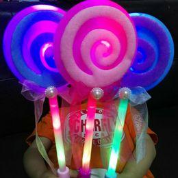 Abiti di lollipop online-Light Up Flashing Lollipop Bacchetta Led Glow Stick Divertente Halloween Natale Hen Club accessorio festa Kids Girl Fancy Dress