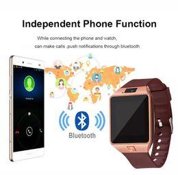 b9c76819248 Dz09 Bluetooth relógio inteligente companheiro de telefone celular GSM SIM câmera  dispositivo wearable para iPhone Samsung Android