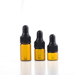 fiale di profumo all'ingrosso Sconti Piccolo misuratore di olio essenziale bottiglia contagocce e succo vape contenitore 1ml 2ml 3ml flacone di 5ml ambra / bottiglia per profumo all'ingrosso