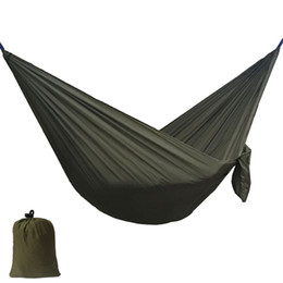 Wholesale Garden Furniture Swings - Solid Color Nylon Parachute Hammock Camping Survival garden swing Leisure travel outdoor furniture ZW-SH15
