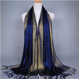 listra lurex Rebajas Bufanda de las mujeres Hilo de oro Impresión de la moda Borla de la borla de algodón Lurex Plaid raya chales Bufandas Bufanda musulmán largo Hijab 16 colores