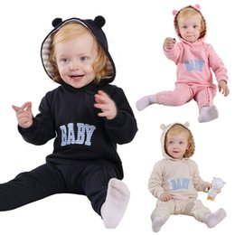 Wholesale Exercise Notebooks - Baby Zipper Romper Soft Cottn Spring Autumn 0-24 Months Girls Boys Kids Jumpsuit Sleepshirts Climb Clothing Changing Pads
