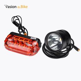 2019 luce di coda elettrica della bici PASION E BIKE Luci per bicicletta LED Luce freno 48V 36V 24V Spia elettrica Biciclette Posteriore per bicicletta luce di coda elettrica della bici economici