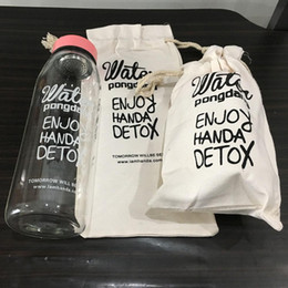 Wholesale Country Style Bags - Wholesale- 500ml, 800ml big Capacity Transparent Water Bottle Korean Style Clear Glass Bottle