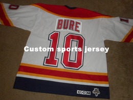 b8dcd8f42 Cheap custom NEW CCM Pavel Bure #10 Florida Panthers Stitched Hockey Jersey  Mens Personalized Any name number stitching jerseys XS-6XL