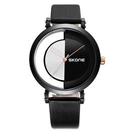 2019 смотреть день ночь Creative Watches Men Leather Wristwatch Quartz Day Night Rose Gold Pointer Watch Mens Fashion Wrist Clock  Male Watch скидка смотреть день ночь
