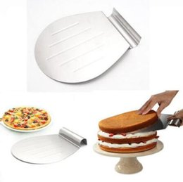 Wholesale Pizza Plates - Stainless Steel Transfer Tray Moving Plate Cake Lifter Shovel Pastry Baking Tool Pizza Blade Shovel Bakeware Pastry Scraper CCA9008 30pcs