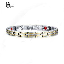 2019 бижутерия для здоровья Health Power Bracelets Bangles for Men Jewelry with 4 s Magnetic Bio Energy Therapy Male Bracelet Accessories 8.26