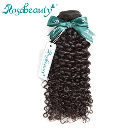 Монгольские кудрявые вьющиеся волосы онлайн-Rosa Beauty Hair Products Mongolian Afro Kinky Curly Hair 100% Human Weave Bundles Remy Extensions Shipping Free
