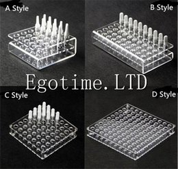 Wholesale Acrylic Show Cases - Acrylic Display Showcase Rack Stand Show Case Shelf for G2 92A3 CE3 CCELL mt6 Ceramic Cartridges Atomizer Tank Ecigs Vape Shelf Holder