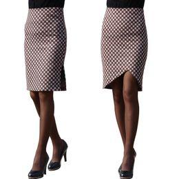 6f7cd1769955 slim plaid skirt NZ - Winter Women Skirts 2017 Autumn Plaid Check Slimming High  Waist Pencil