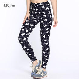 Wholesale Camouflage Leggins - LJQlion Brands Fashion camouflage leggings Five-pointed stars Printing leggings Fitness Slim leggins Trousers Woman Pants