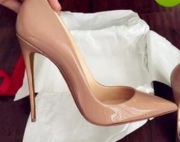 Argentina {Original Logo} diseñador de lujo de moda fondo rojo tacones altos talón negro plata bombas de la boda vestido de mujer zapatos de mujer cheap designer silver wedding shoes Suministro