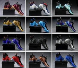 Wholesale shoe spray - [With Original Box] HOT Penny Hardaway Foams Men Basketball Shoes Sneaker One pro Eggplant spray Copper jet Royal us 7-13