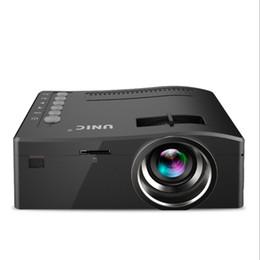sintonizador hdmi lcd tv Rebajas 2018 CALIENTE Original Unic UC18 Mini LED Proyector Portátil Proyectores de bolsillo Reproductor multimedia Juego de cine en casa Compatible con HDMI USB TF Beamer