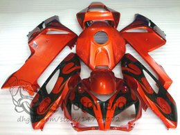 Carenagens fireblade honda on-line-ABS Fairing CBR1000RR 2004 Abs Carenagem para Honda Cbr1000 RR 04 Kits Corpo Inteiro Fireblade 2005 2004 - 2005 Laranja TT00J325