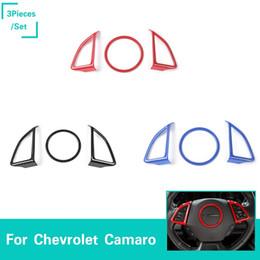 Cubre volante chevrolet online-Volante del coche Cubierta Decorativa ABS 3 Color Para Chevrolet Camaro 2017 + Car Styling Auto Interior Accesorios