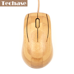 Wholesale Bamboo Computers - Bamboo Wired Mouse Mini Opitcal USB Interface Type Stock For Laptop Top Quality FCC CE Best Price Wooden Mouse For Computer