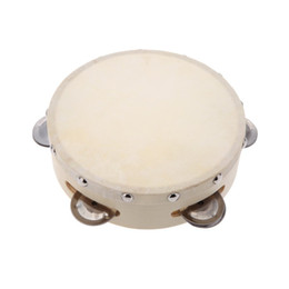I tamburi dei giocattoli online-6in Hand Tambourine Drum Bell Metal Jingles Percussion Musical Toy per KTV Party Giochi per bambini