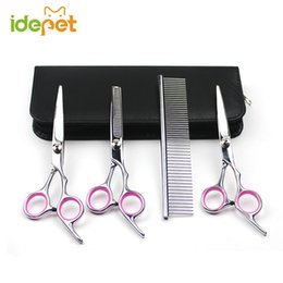 Wholesale Dog Grooming Thinning Scissors - Dog Hair Scissors Grooming Set Pet Scissors For Dog Grooming Shears Kits Curved Cat Pet Product Hair Thinning Shears S251