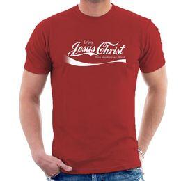 APRECIE JESUS CRISTO T-SHIRT cristian coca oca-cola inspirado engraçado t-shirt B04 Moda Estilo Homens T Camisas 100% frete grátis tee barato supplier t shirt jesus de Fornecedores de camiseta jesus