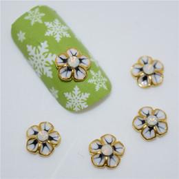 3d nagelkunst rhinestone blumen Rabatt 10psc neue goldene Blumen 3D Nail Art Dekorationen, Legierung Nagel Charms, Nägel Strass Supplies # 265