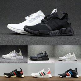 Wholesale Fall Japan - wholesale 2018 NMD R1 Runner R1 Primeknit PK japan Triple black White red blue grey Running Shoes Men Women Sneakers sports Shoes us5-11