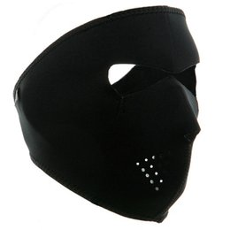 Wholesale Neoprene Cap - Wholesale- 2 in 1 Winter Cycling Skiing Hiking Bike Bicycle Hunting Full Face Mask Reversible Neoprene Skull Half Face Mask Sports Mask