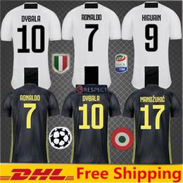 492e7089c56 2019 Thai Quality RONALDO JUVENTUS Soccer Jersey Men 18 19 7  JUVE CR7 9  Higuain 10 Dybala Mandzukic Home Away Football Shirt uniforms