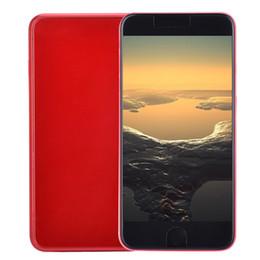 3g telefonkamera online-Günstige Goophone i8 Plus V2 3G WCDMA Quad Core MTK6580 1.3 GHz 512 MB 4 GB Android 7.0 5,5 Zoll IPS 960 * 540 qHD 5MP Kamera-Metallkörper-Mobiltelefon