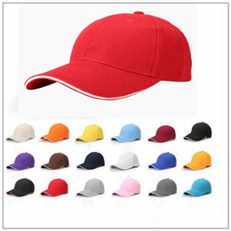 Wholesale Winter Visor Hats - 18 Colors Unisex Plain Baseball Cap Ball Solid Blank Visor Adjustable Hats Solid Sports Visor Sun Golf Ball Hat CCA9186 100pcs