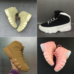 Wholesale Space Boots - 2018 With Box Mens and Womens Basketball Shoes 9S for Men Sneakers Space Jam Black Olive Cool Grey Size US5.5-13 High Boots