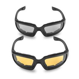 ciclo óculos preto amarelo Desconto Óculos de Equitação Da motocicleta Resistente Ao Vento Shatterproof Preto Quadro Ciclismo Óculos de Proteção Para Os Olhos Cinza Amarelo ZLJ9320