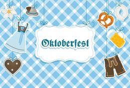 Desenhos animados alemanha on-line-Laeacco Cerveja Alemanha Oktoberfest Festival Dos Desenhos Animados Padrão Cartaz Fundos Fotográficos Fotografia Backdrops Para Estúdio de Fotografia