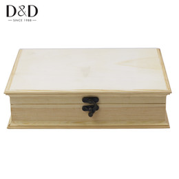 Wholesale Painting Earrings - Multi-function Natural Color Wooden Storage Box for Rings Earrings Necklaces Organizer Jewelry Case DIY Painting Crafts Box