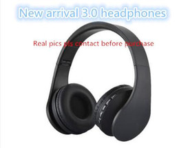Wholesale Free Earphones - 2018 new arrival 3.0 headphones headband bluetooth wireless over-ear headsets top quality on ear noise cancelling earphones sealed free DHL