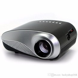 Wholesale hd lcd led - Cheap Portable Projector Mini LED Projector 4K TV Chip Double HDMI Port USB SD Interface 1080P Full HD Analog TV Interface DHL Free Shipping